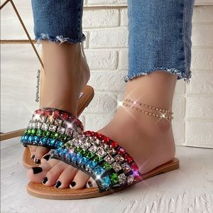 Big Diamond Rainbow Sandals